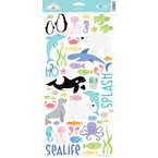 Doodlebug Design - Seaside Collection - Sugar Coated Cardstock Stickers - Icons