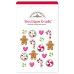Doodlebug Design - Boutique Brads - Assorted Brads - Christmas Candy