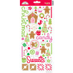 Doodlebug Design - Christmas Candy Collection - Sugar Coated Cardstock Stickers - Icons