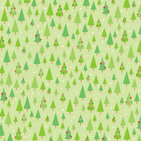 Doodlebug Design - Christmas Candy Collection - 12 x 12 Paper - Festive Forest