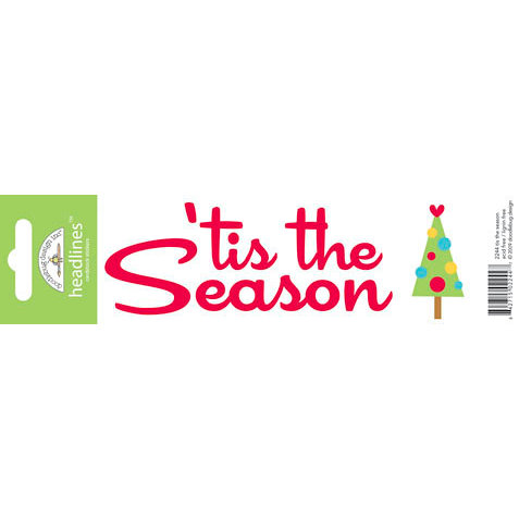 Doodlebug Design - Headlines Collection - Cardstock Stickers - Christmas - Tis The Season