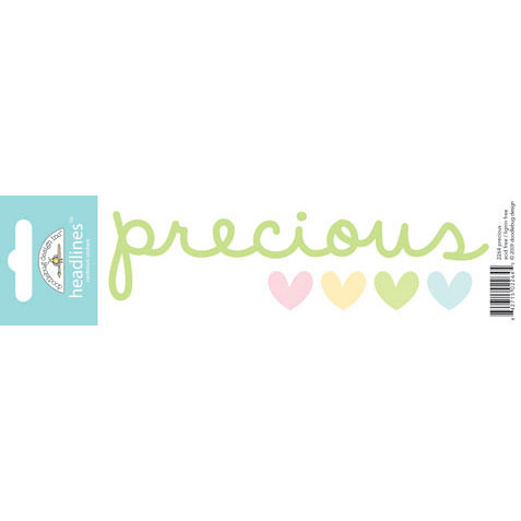 Doodlebug Design - Headlines Collection - Cardstock Stickers - Precious