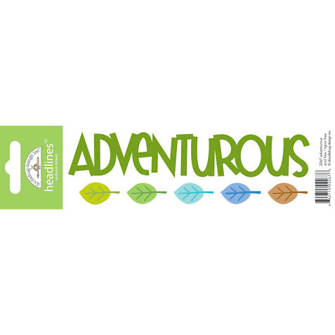 Doodlebug Design - Headlines Collection - Cardstock Stickers - Adventurous