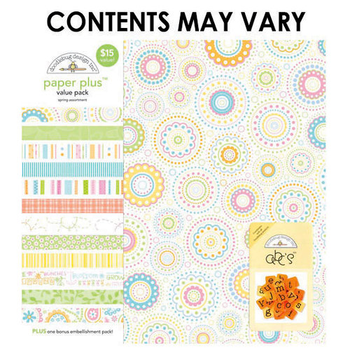 Doodlebug Design - Paper Plus Value Pack - Spring Assortment