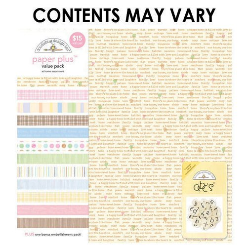 Doodlebug Design - Paper Plus Value Pack - At Home Assortment