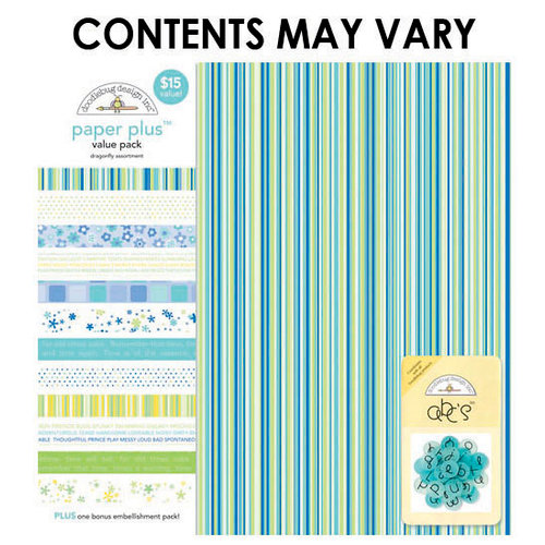 Doodlebug Design - Paper Plus Value Pack - Dragonfly Assortment