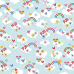 Doodlebug Design - Feeling Groovy Collection - 12 x 12 Paper - Over The Rainbow