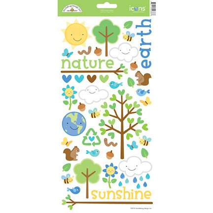 Doodlebug Design - Mother Nature Collection - Cardstock Stickers - Icons