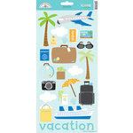 Doodlebug Design - Great Getaways Collection - Cardstock Stickers - Icons