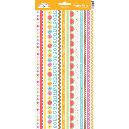 Doodlebug Design - Summertime Collection - Cardstock Stickers - Fancy Frills