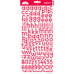 Doodlebug Design - Jack and Jill Collection - Alphabet Cardstock Stickers - Ladybug