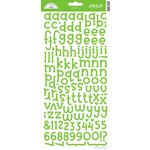 Doodlebug Design - Jack and Jill Collection - Alphabet Cardstock Stickers - Limeade