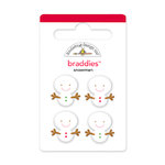 Doodlebug Design - Happy Holidays Collection - Brads - Snowmen Braddies