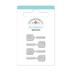 Doodlebug Design - Bon Appetit Collection - Brads - Spatulas Braddies