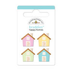 Doodlebug Design - Welcome Home Collection - Brads - Happy Homes Braddies