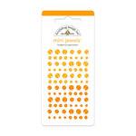 Doodlebug Design - Jewels Adhesive Rhinestones - Mini - Tangerine