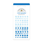 Doodlebug Design - Jewels Adhesive Rhinestones - Mini - Blue Jean