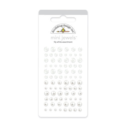 Doodlebug Design - Jewels Adhesive Rhinestones - Mini - Lily White