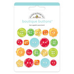Doodlebug Design - Bon Appetit Collection - Boutique Buttons - Assorted Buttons - Bon Appetit