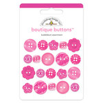 Doodlebug Design - Boutique Buttons - Assorted Buttons - Bubblegum