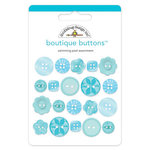 Doodlebug Design - Boutique Buttons - Assorted Buttons - Swimming Pool