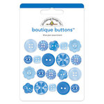 Doodlebug Design - Boutique Buttons - Assorted Buttons - Blue Jean