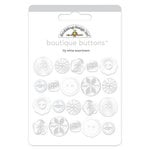 Doodlebug Design - Boutique Buttons - Assorted Buttons - Lily White