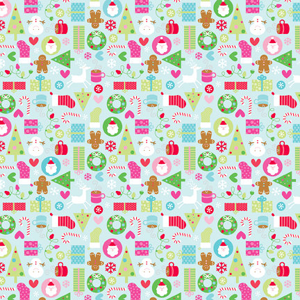 Doodlebug Design - Happy Holidays Collection - 12 x 12 Paper - Jolly Holidays