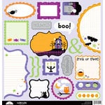 Doodlebug Design - Spooky Town Collection - Halloween - Cute Cuts - 12 x 12 Cardstock Die Cuts