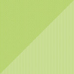 Doodlebug Design - Petite Prints Collection - 12 x 12 Double Sided Paper - Daisy Stripe Limeade