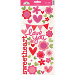 Doodlebug Design - Sweet Love Collection - Sugar Coated Cardstock Stickers - Icons