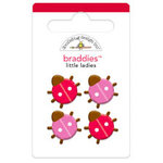 Doodlebug Design - Ladybug Garden Collection - Brads - Little Ladies Braddies
