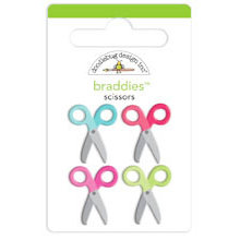 Doodlebug Design - Nifty Notions Collection - Brads - Scissors Braddies