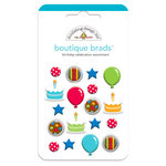 Doodlebug Design - Birthday Celebration Collection - Boutique Brads - Assorted Brads - Birthday Celebration