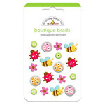 Doodlebug Design - Ladybug Garden Collection - Boutique Brads - Assorted Brads - Ladybug Garden