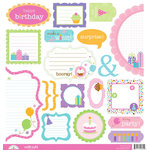 Doodlebug Design - Cake and Ice Cream Collection - Cute Cuts - 12 x 12 Cardstock Die Cuts