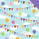 Doodlebug Design - Cake and Ice Cream Collection - 12 x 12 Double Sided Paper - Surprise Party