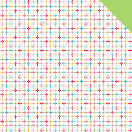 Doodlebug Design - Nifty Notions Collection - 12 x 12 Double Sided Paper - Cross Stitch
