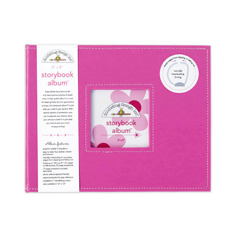 Doodlebug Design - 8 x 8 Storybook Album - Bubblegum