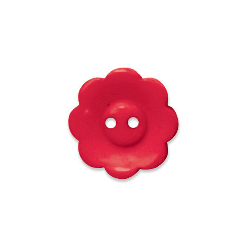 Doodlebug Design - Oodles - Buttons - Flower - 19 mm - Ladybug