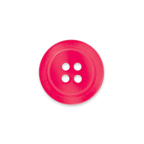 Doodlebug Design - Oodles - Buttons - Round - 19 mm - Light Ladybug