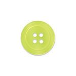 Doodlebug Design - Oodles - Buttons - Round - 19 mm - Lemon Lime