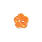 Doodlebug Design - Oodles - Buttons - Flower - 15 mm - Tangerine