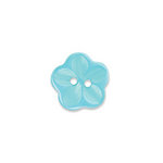 Doodlebug Design - Oodles - Buttons - Flower - 15 mm - Swimming Pool