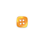 Doodlebug Design - Oodles - Buttons - Square - 13 mm - Tangerine
