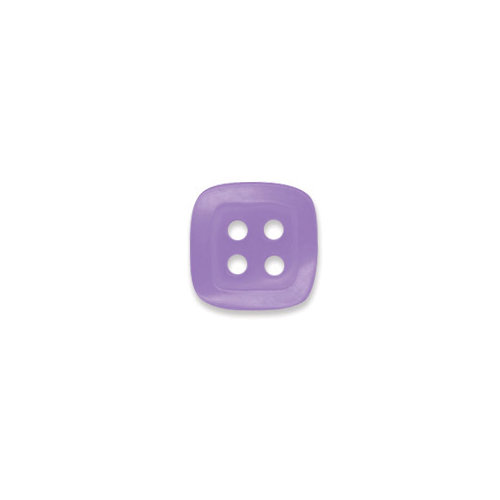 Doodlebug Design - Oodles - Buttons - Square - 13 mm - Lilac