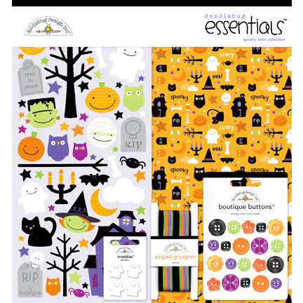 Doodlebug Design - Spooky Town Collection - Halloween - Essentials Kit