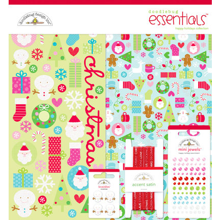 Doodlebug Design - Happy Holidays Collection - Christmas - Essentials Kit