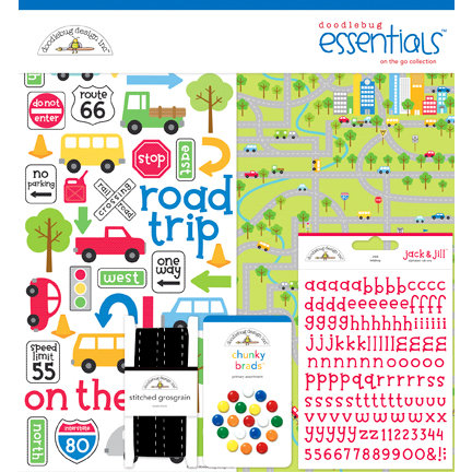 Doodlebug Design - On the Go Collection - Essentials Kit