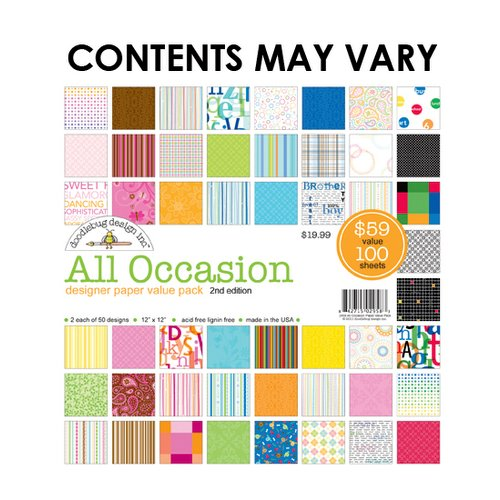 Doodlebug Design - Designer Paper Value Pack - All Occasion